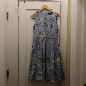 Flowery blue summer dress